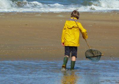 Kinderspel op het strand