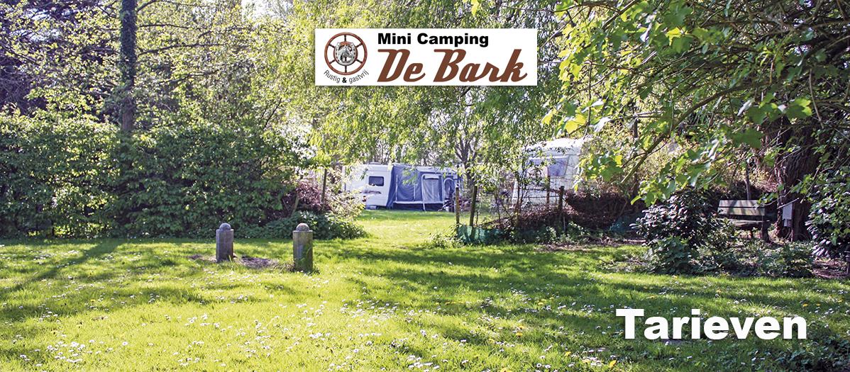 Minicamping De Bark - Tarieven