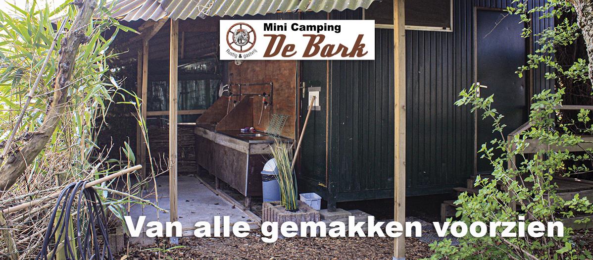 Minicamping De Bark - Voorzieningen